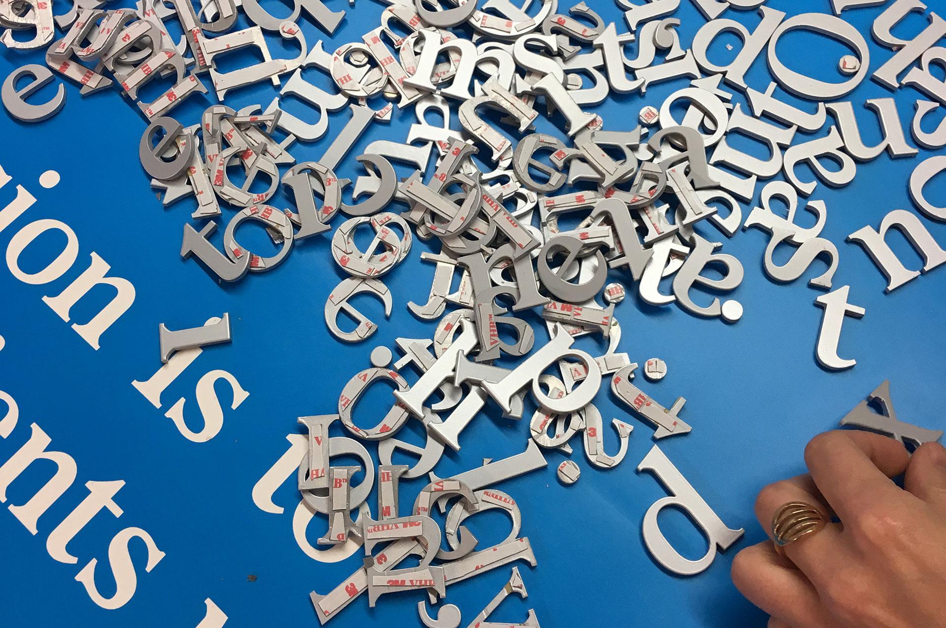 laser cut aluminium lettering for signage