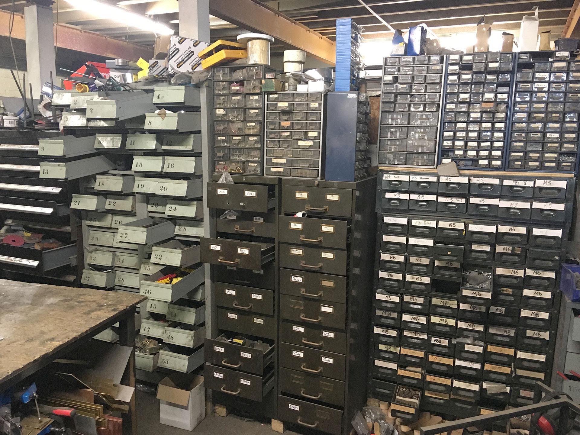 workshop storage at Standard8 workshop
