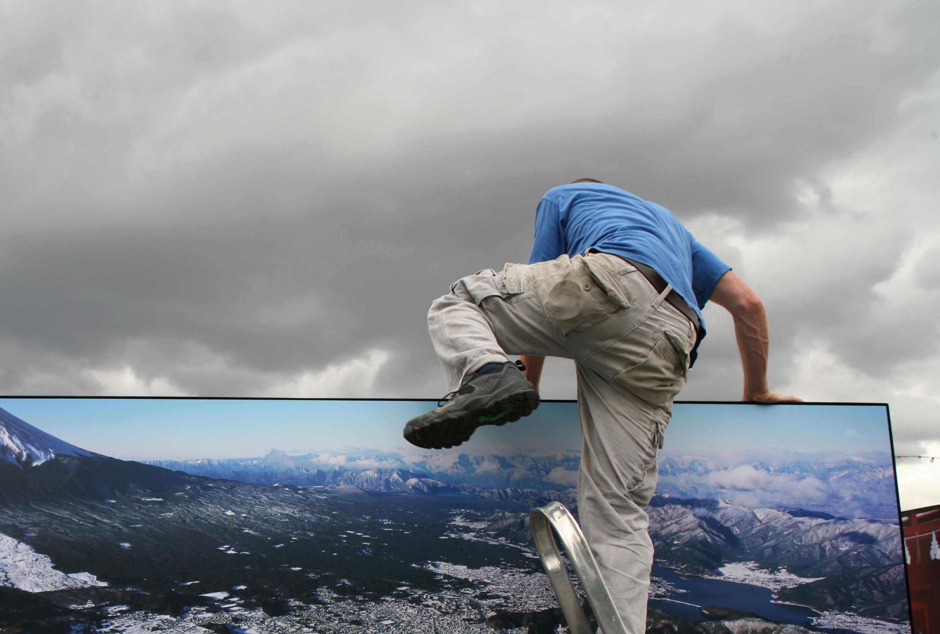 Standard8 installation of Magnum photographer Hiroji Kubota exhibition, London Riverside